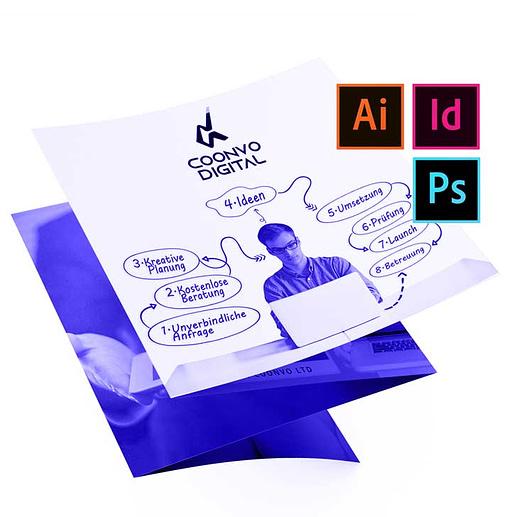 Druckdesign Werbemittel